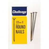 Challenge Round Wire Nails - Bright Steel (Box Pack) - 125mm
